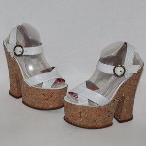 Jeffrey Campbell Women 9 M Platform Sandals snake